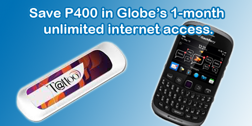 globe unlimited internet and blackberry tricks