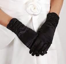 black satin gloves for wedding