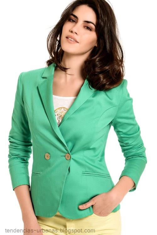 blazer color verde Markova verano 2015