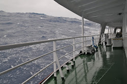 Eight Meter Seas returning through Drake Passage (by Polar Star Staff)