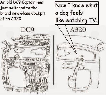 två flygplanstyper, illustration