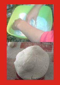 Preparación masa de sal