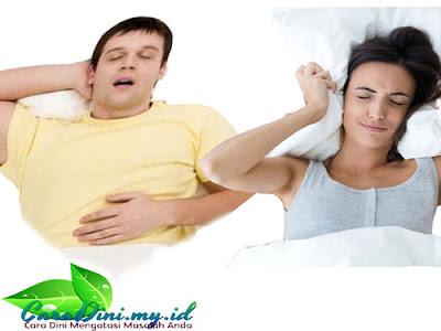 Penyebab tidur mendengkur (ngorok) dan cara mengatasinya