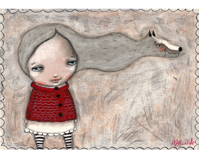 Little red riding hood original painting by Micki Wilde