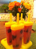Strawberry Peach Blackberry Paletas