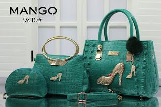 Tas KW Mango Safiano Hils Stud Set Dompet 9810AR Jakarta