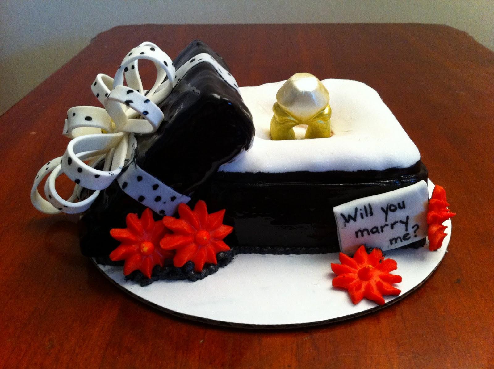 Love Dem Goodies: Proposal Ring Cake