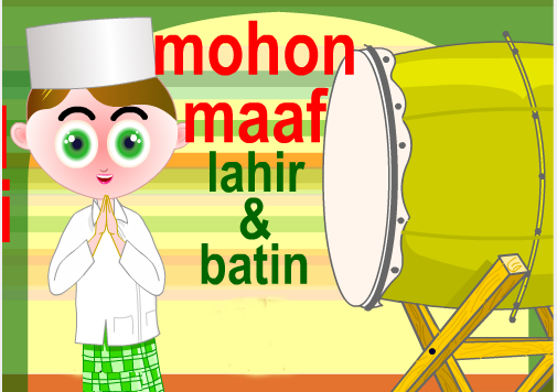 Gambar Pantun Lebaran Idul Fitri 2012
