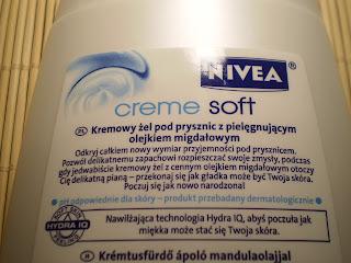 kremowy żel pod prysznic Nivea creme soft