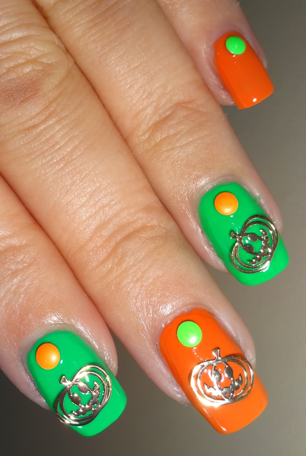 Wendy\'s Delights: Gold Metallic Pumpkin Nail Decals from Charlies ...