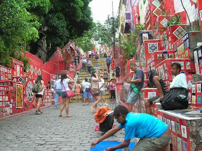 Escalera Selarón, Escadaria Selaron, Rio Janeiro, Brasil, La vuelta al mundo de Asun y Ricardo, round the world, mundoporlibre.com