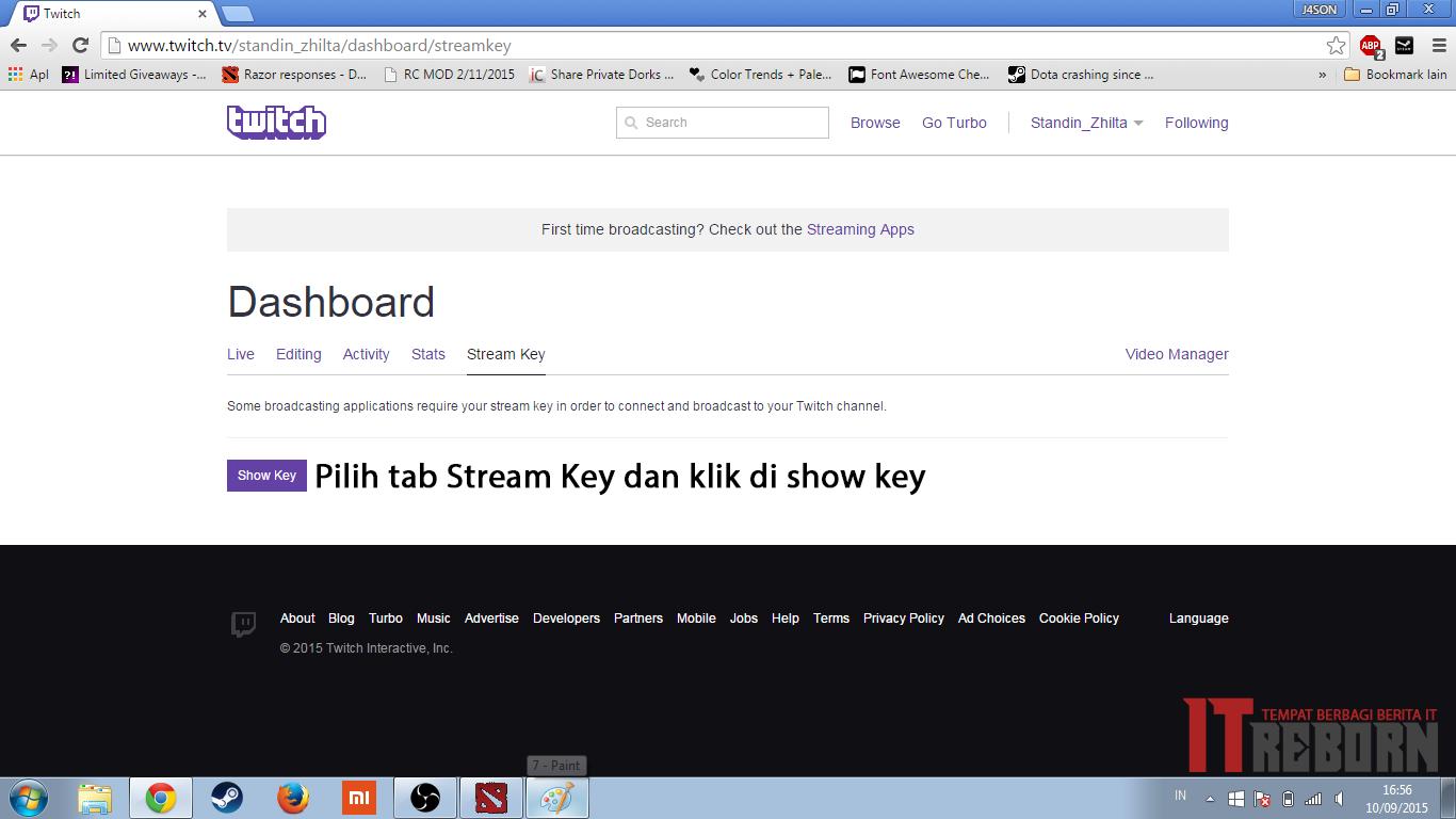 How to get twitch stream key obs