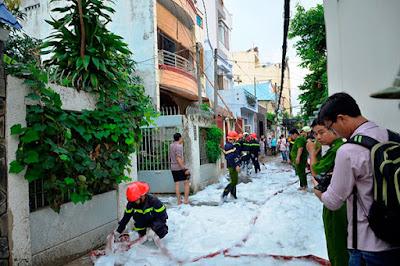 Thiết bị pccc - cháy nhà vắng chủ khiến cả phố hoảng loạn