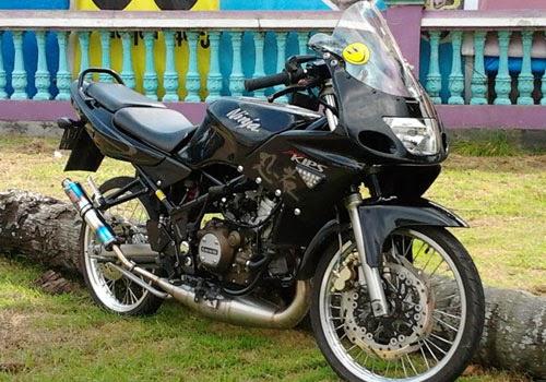 Modifikasi Motor Kawasi Ninja 150 rr Terkeren yang bisa Modifikasi  title=