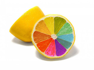 Rainbow Lemon wallpaper
