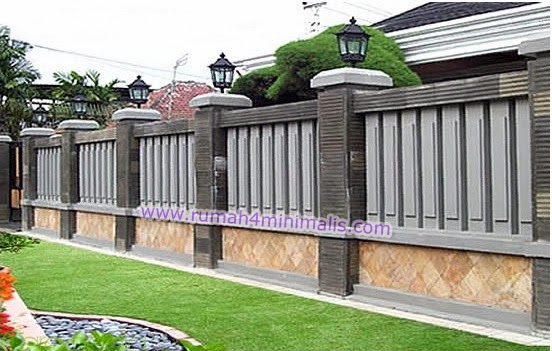 Kumpulan Gambar Pagar Tembok Rumah Minimalis | Gambar Rumah Minimalis