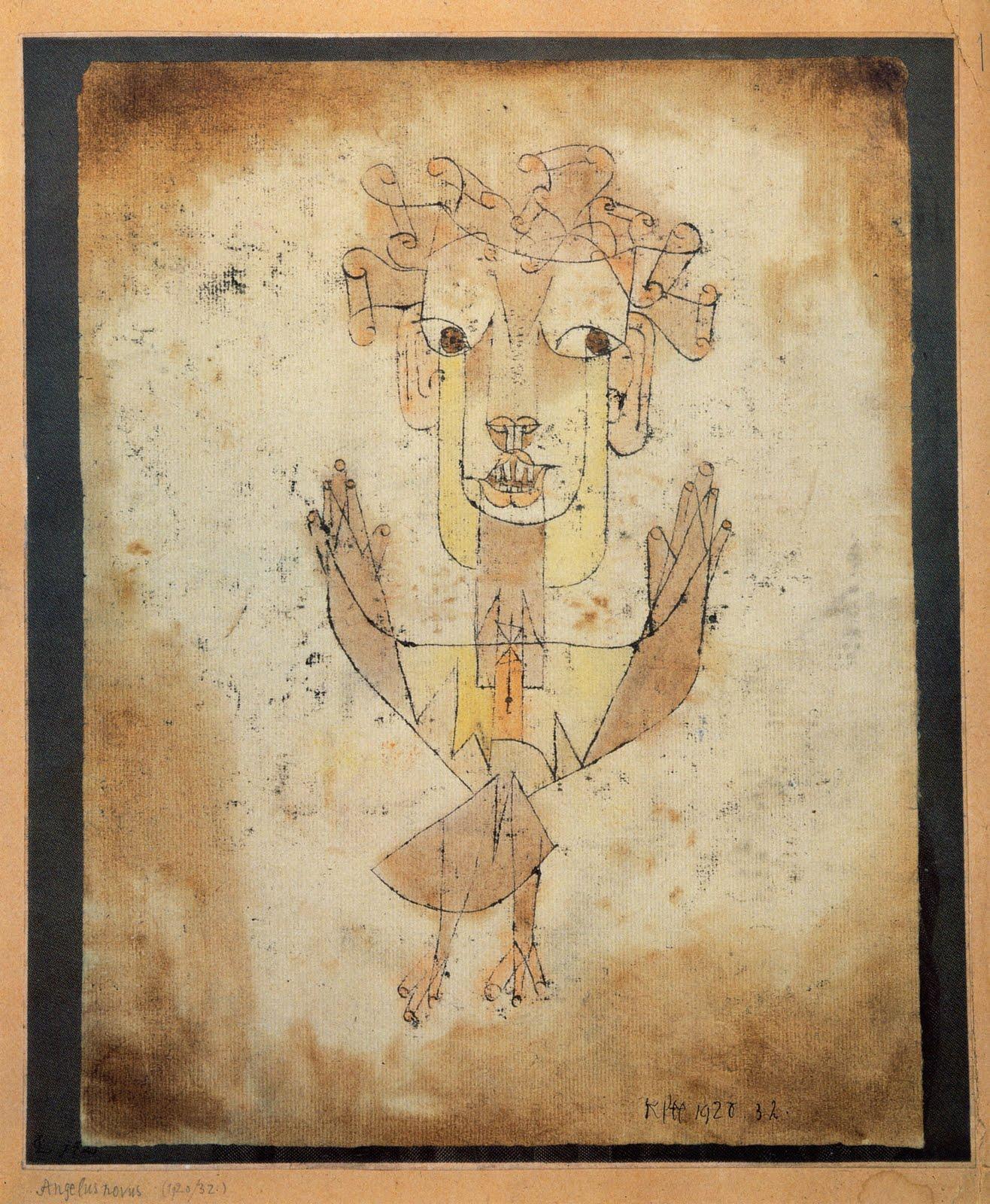 Patagonia outubro 2011 walter benjamin na nona tese de sobre o conceito da histria fala de uma pintura de paul klee um anjo que encara algo fixamente e tem os olhos fandeluxe Choice Image