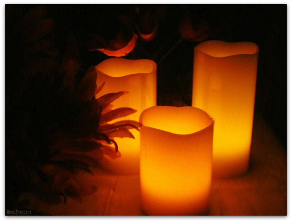 led candles: