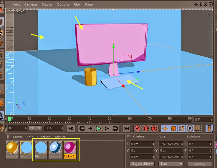 2D Style for 3D Objects in Cinema 4D 15