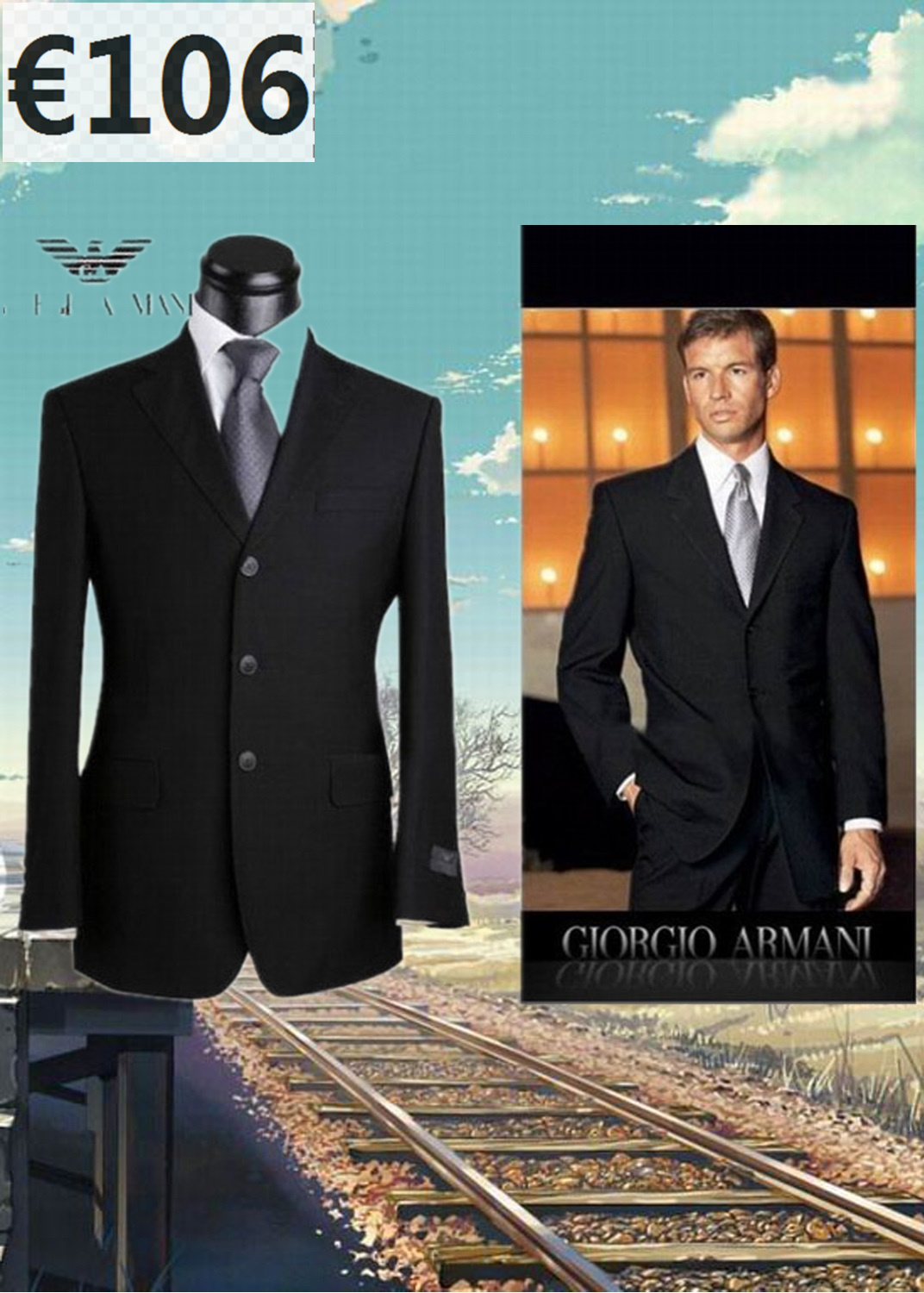 costume homme armani - Costume Homme 3 Pieces Mariage