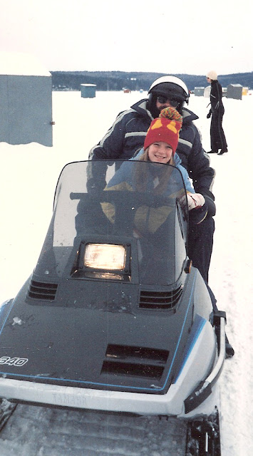 camilla bradley on snowmobile