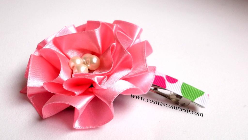 Цветки для волос из ленты своими руками 752