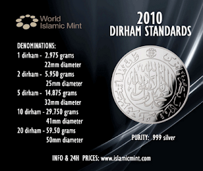 Piawaian World Islamic Mint untuk Dirham
