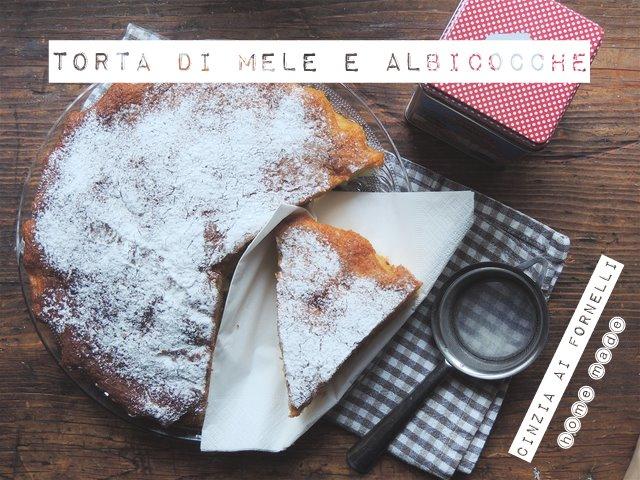 torta di mele e albicocche