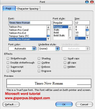 word 2007 tutorial