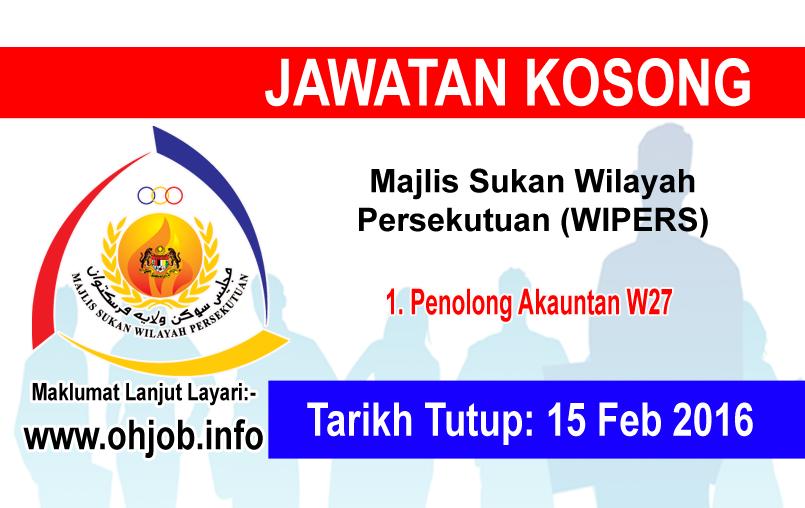 Jawatan Kerja Kosong Majlis Sukan Wilayah Persekutuan (WIPERS) logo www.ohjob.info februari 2016