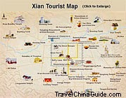 Xian Tourist Map