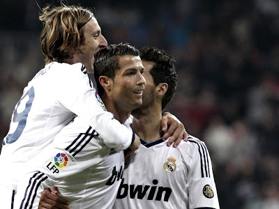 Cristiano Ronaldo Celebration HD with Modric and Arbeloa