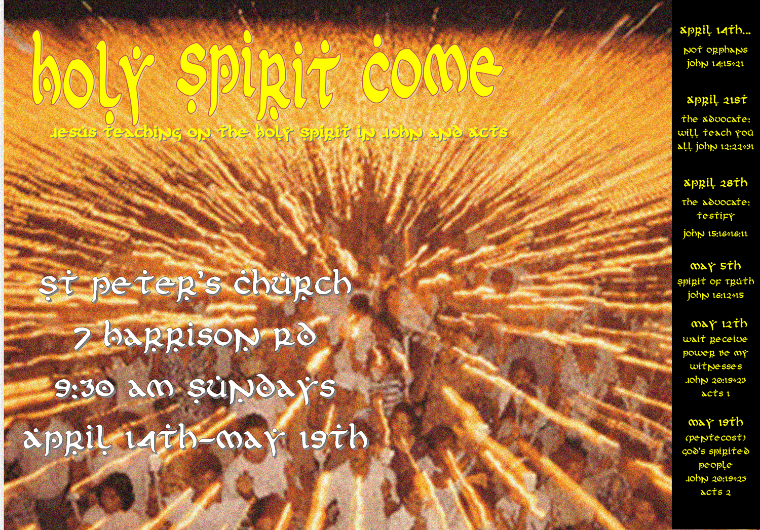 holy spirit in johns gospel essay John 14:17 and the holy spirit in the gospel of john the reception of the holy spirit in the early church, then they must all be synonymous in that the.