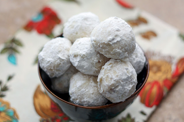 Mexican Wedding Cookies - get the recipe at barefeetinthekitchen.com