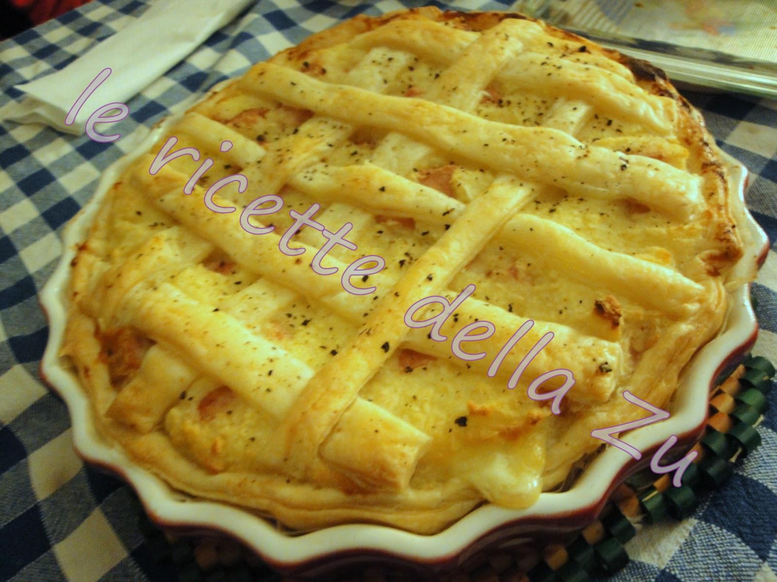 Ricetta torta salata con wurstel e patate