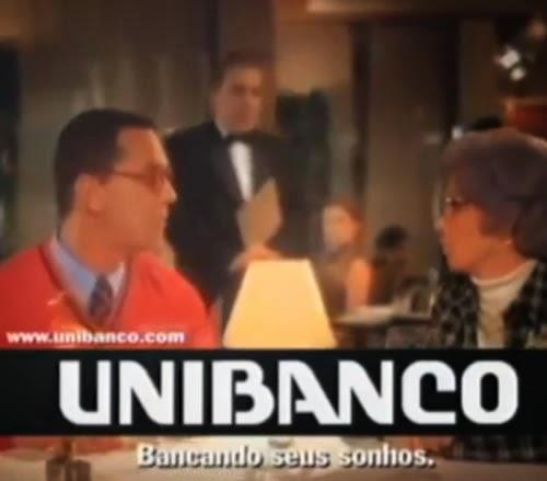 Campanha do Unibanco veiculada no ano 2000 com Débora Bloch e Luís Fernando Guimarães. Casal Unibanco.