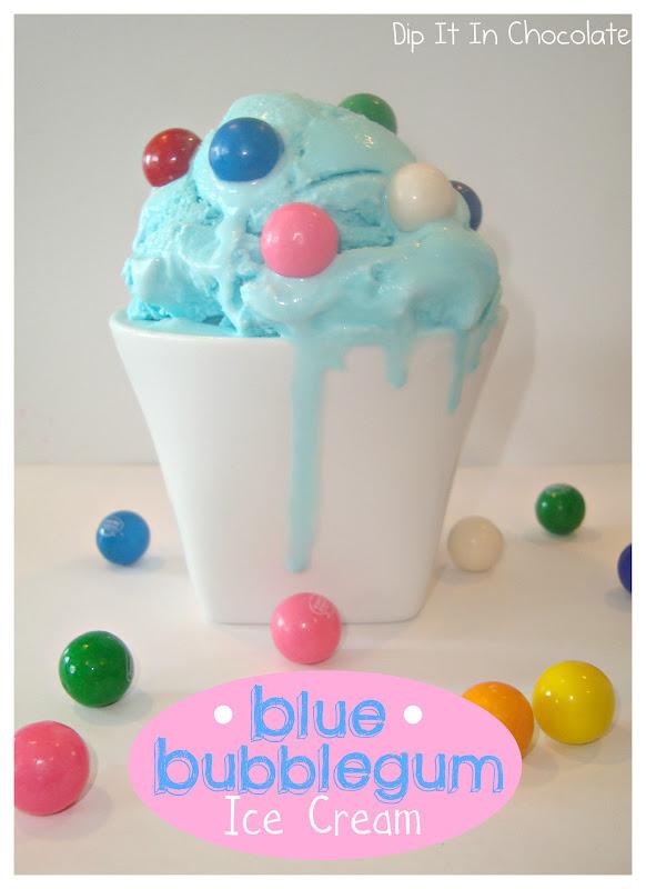 Blue Bubblegum Ice Cream ~ Dip it in Chocolate