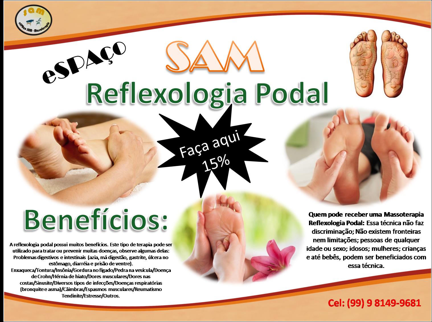 Marque já uma massagem reflexologia potal