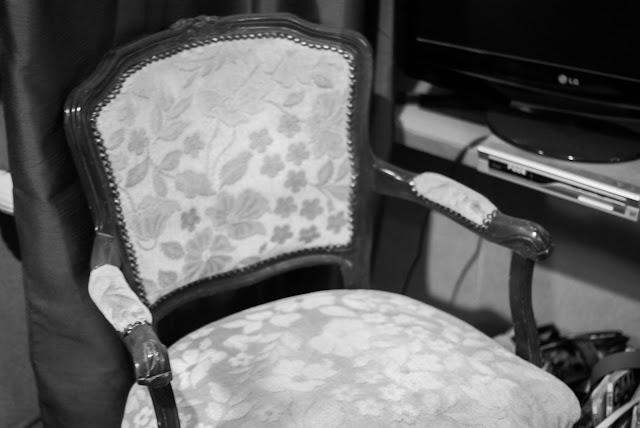 vintage stoeltje erfenis oud mooi