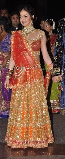 esha deol sangeet dress