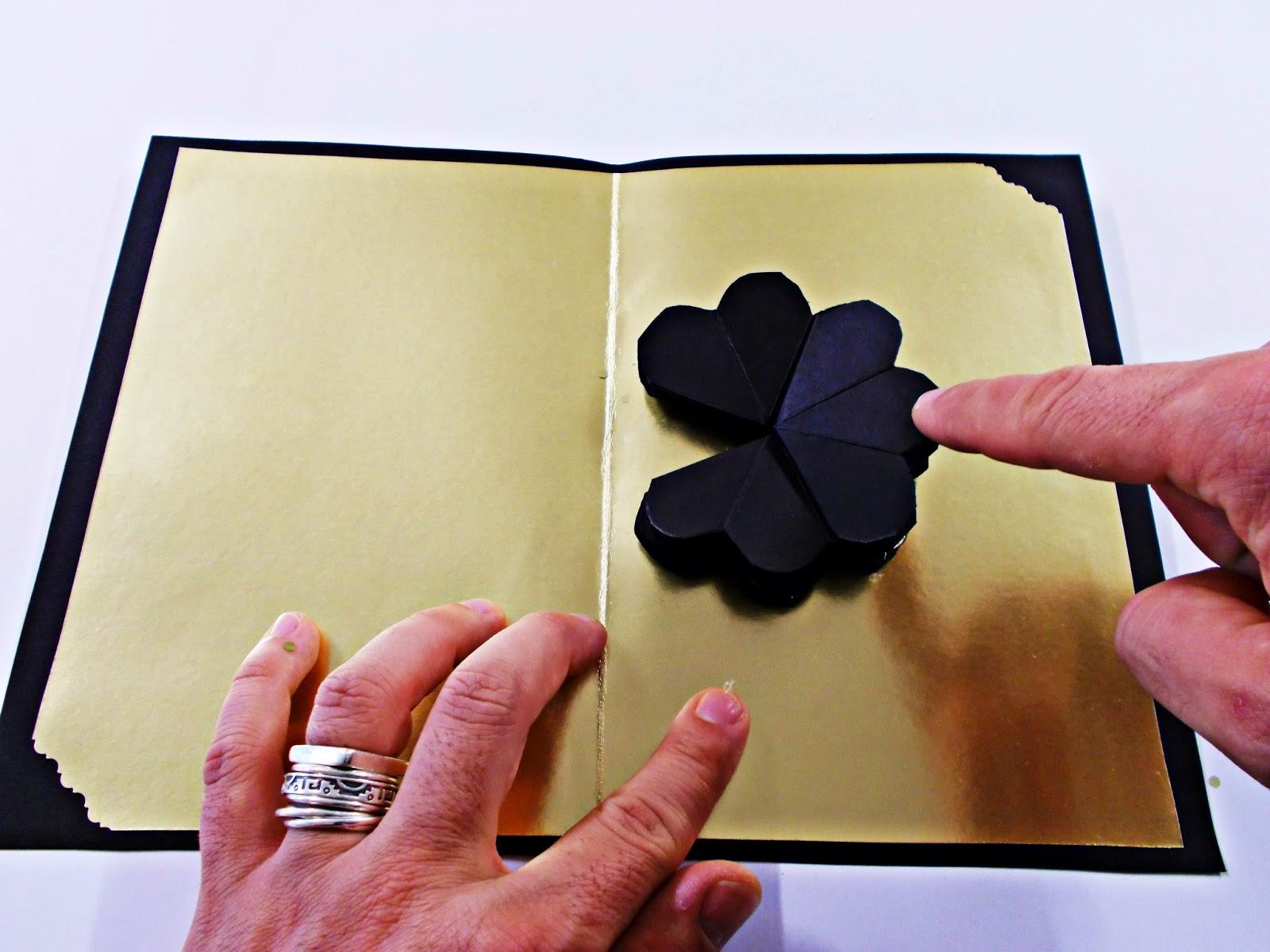 DIY-craft-tarjeta navideña-pop up-navidad-flores-Christmas-felicitación-6