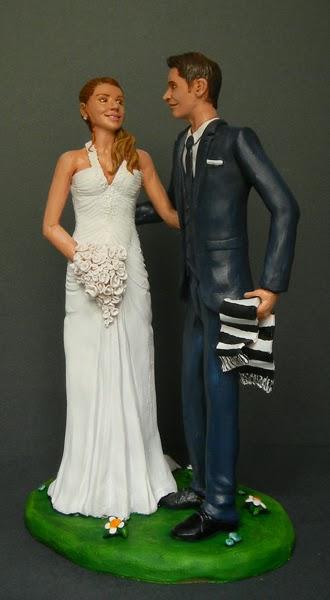 sposi cake toppers realistici personalizzati sciarpa della juve orme magiche