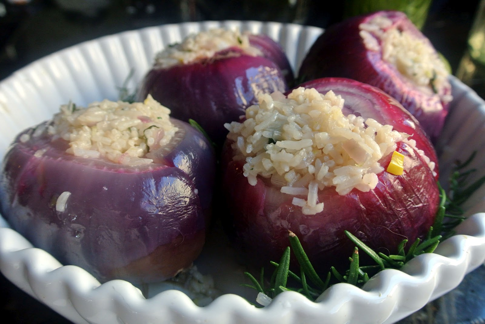 Mom, What's For Dinner?: Roasted Stuffed Red Onions
