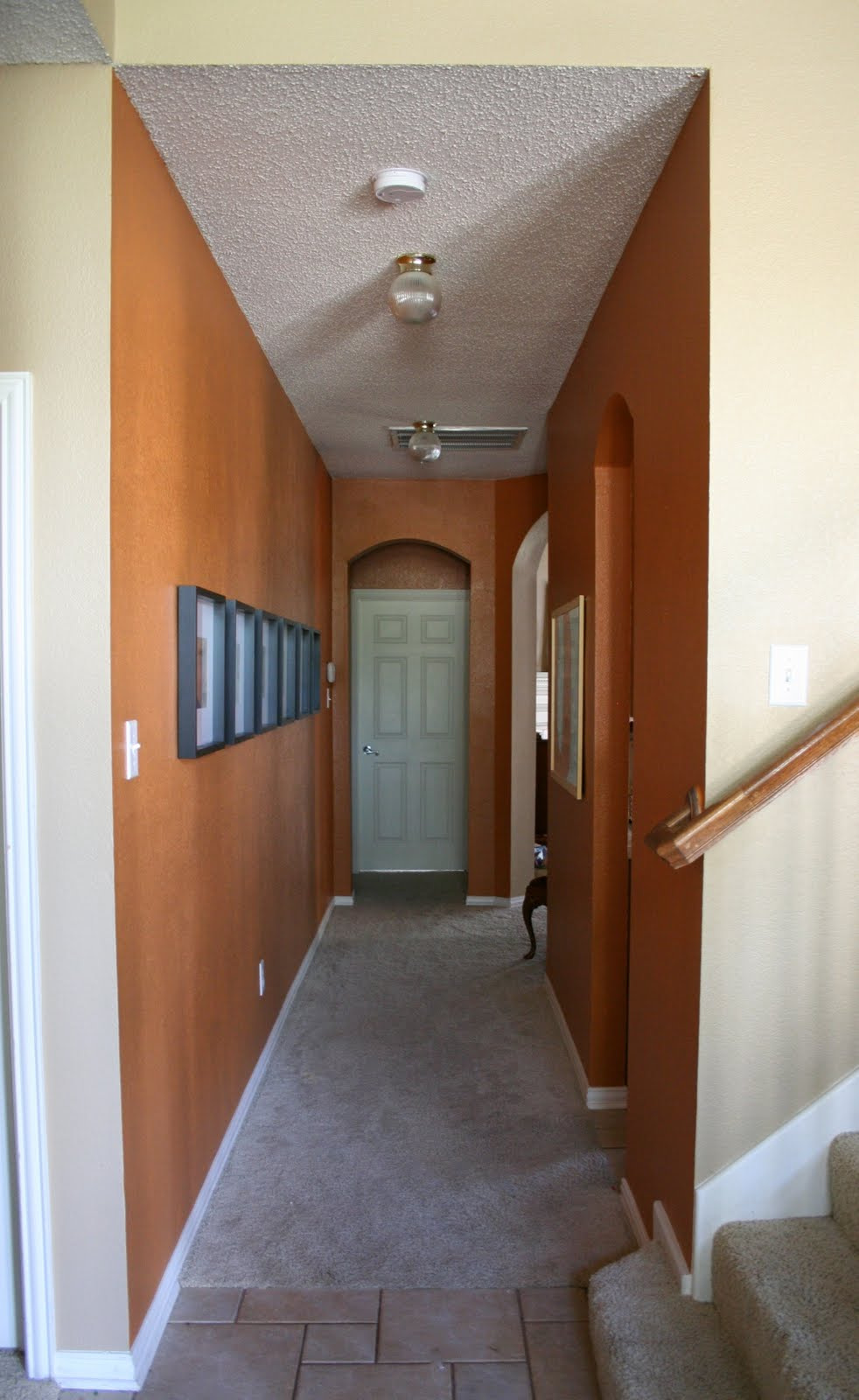 Good Hallway Paint Colors orange walls - dukes and duchesses
