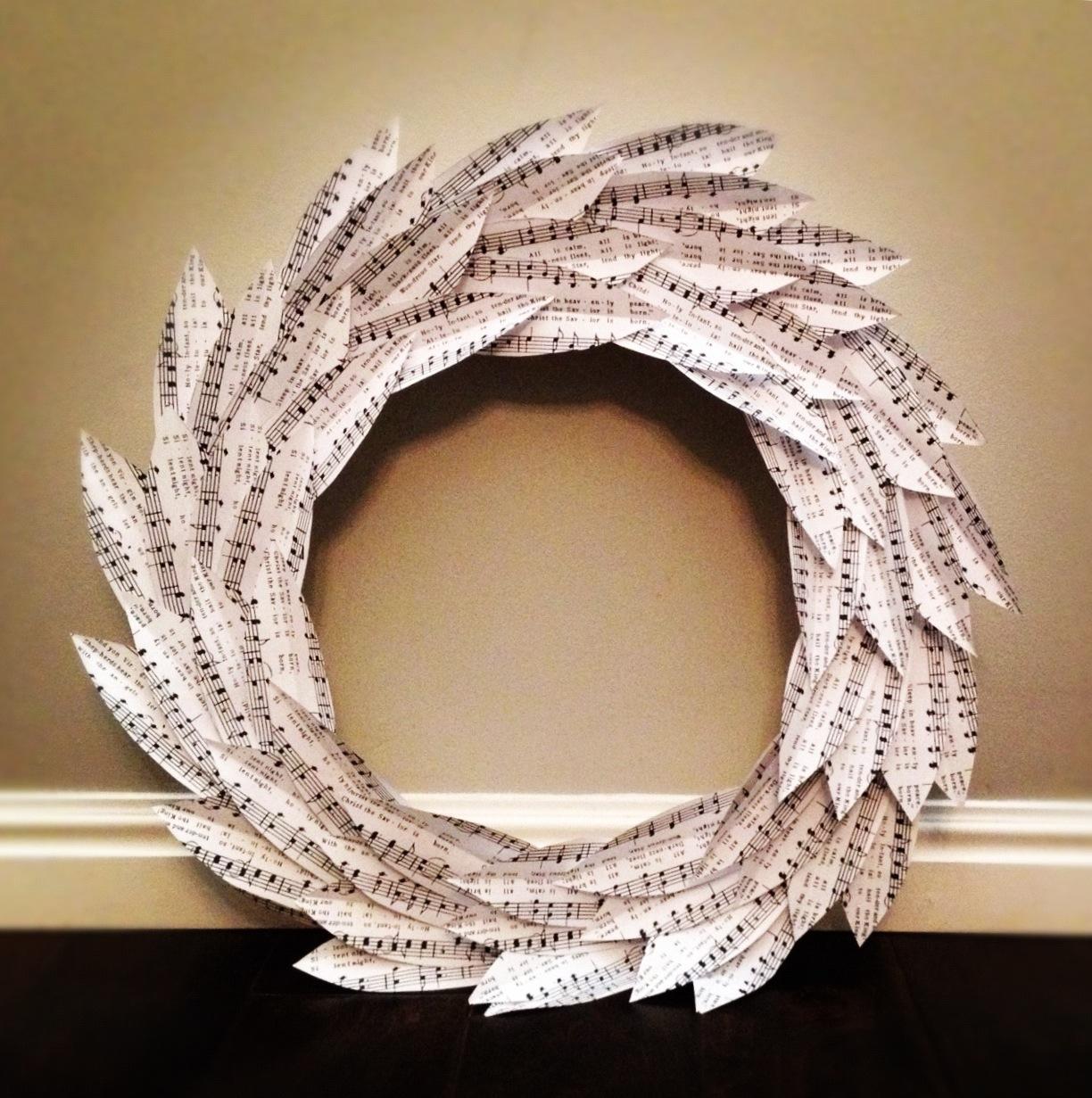 Artesanato Folclore Da Região Sudeste ~ LIFE IS SWEET DIY Paper Leaf Wreath