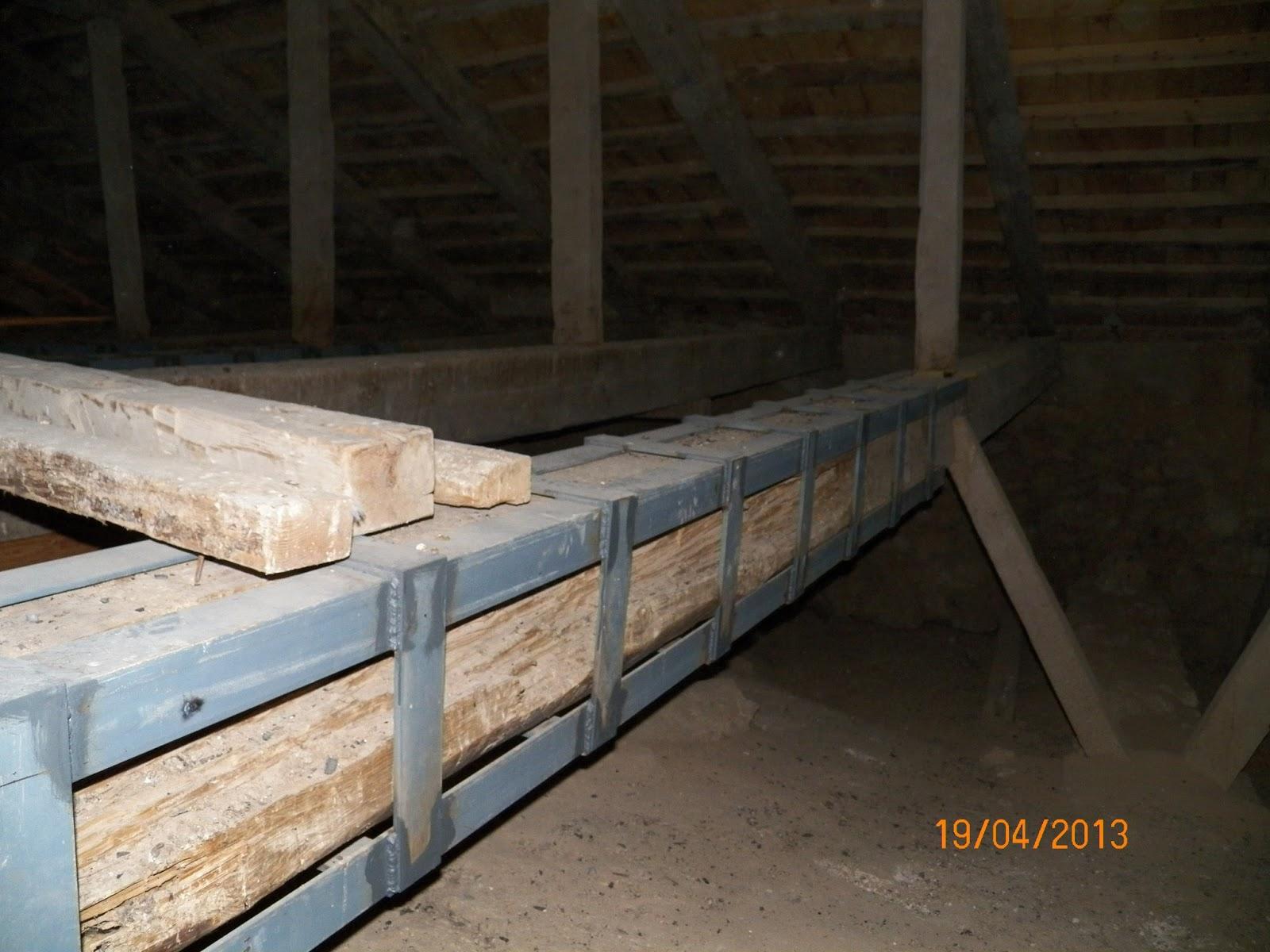 Todo tembleque obras de de la restauraci n de la iglesia abril 2013 - Restaurar vigas de madera ...