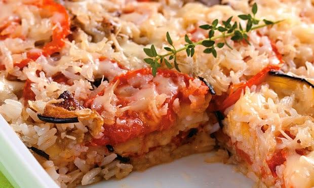 #receita de #arroz a #parmegiana
