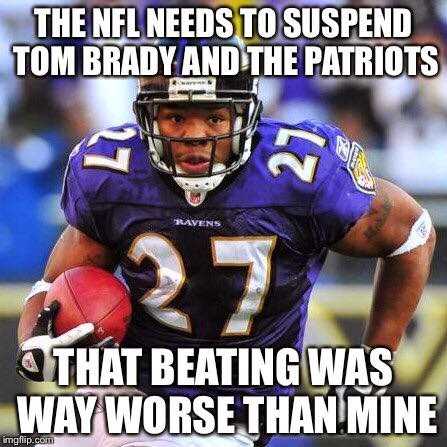 The Nfl needs to suspend to Tom Brady and the patriots that beating was way worse than mine