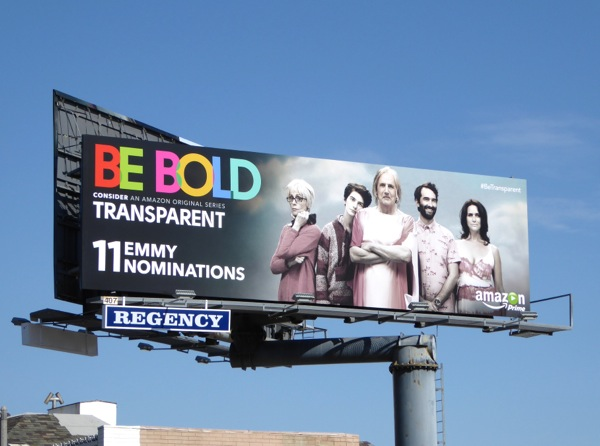 Transparent Be Bold 2015 Emmy billboard
