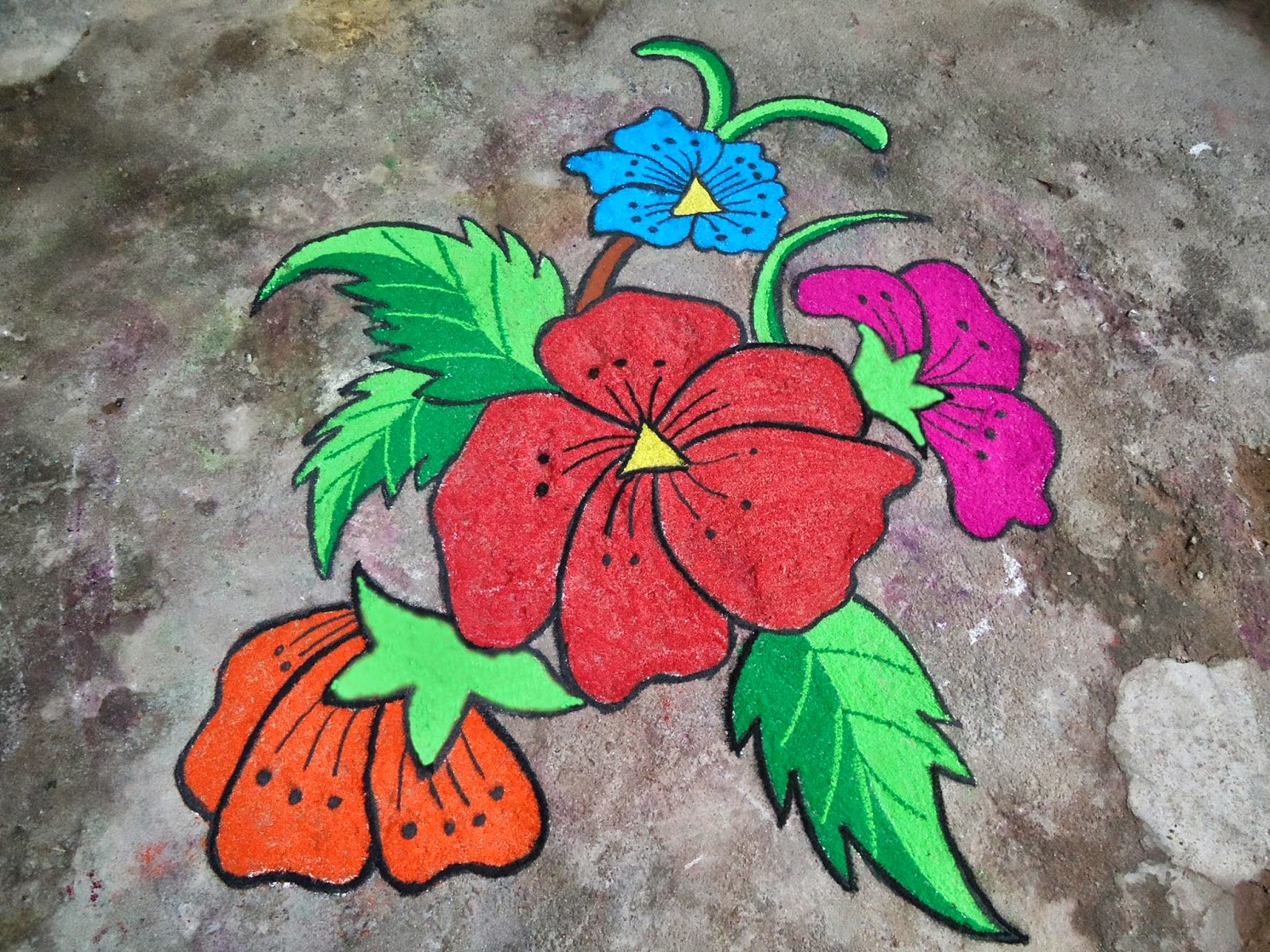 Easy Rangoli Designs 8